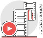 clip video   infographic icon...