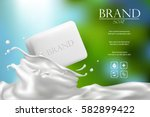 soap advertisement design.... | Shutterstock .eps vector #582899422