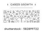 line web banner for career... | Shutterstock .eps vector #582899722