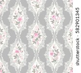 seamless floral pattern with... | Shutterstock .eps vector #582901345