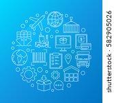 worldwide logistics colorful...   Shutterstock .eps vector #582905026