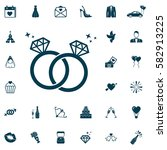 bride and groom rings  wedding... | Shutterstock .eps vector #582913225