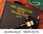 book with title the americans... | Shutterstock . vector #582915376