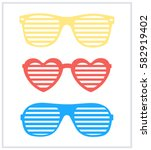set of sunglasses background... | Shutterstock .eps vector #582919402