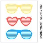 set of sunglasses background... | Shutterstock .eps vector #582919402