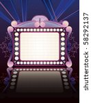 theater marquee   Shutterstock .eps vector #58292137
