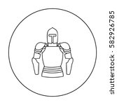 plate armor icon in outline... | Shutterstock .eps vector #582926785