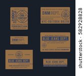 collection of labels denim...   Shutterstock .eps vector #582928828
