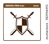 sword and shield  icon for the... | Shutterstock .eps vector #582946492