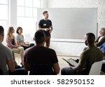 networking seminar meet ups... | Shutterstock . vector #582950152