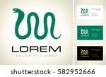 snake logo | Shutterstock .eps vector #582952666