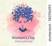 elegant greeting card design... | Shutterstock .eps vector #582956392