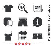 clothes icons. t shirt and... | Shutterstock .eps vector #582962332