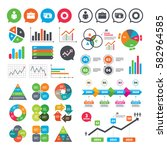 business charts. growth graph.... | Shutterstock .eps vector #582964585