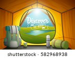 discover the world poster  view ... | Shutterstock .eps vector #582968938