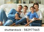 big happy family  | Shutterstock . vector #582977665