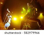 Small photo of ST. PETERSBURG, RUSSIA - FEBRUARY 2, 2013: Concert of Bonaparte (band) at the club A2