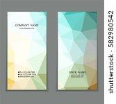 set of multicolored polygon... | Shutterstock .eps vector #582980542