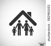 family icon   vector ... | Shutterstock .eps vector #582981052