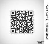qr code icon   vector ... | Shutterstock .eps vector #582981292