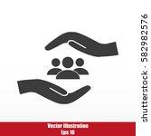 business man icon.   team work   Shutterstock .eps vector #582982576