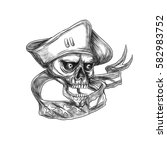 tattoo style illustration of a... | Shutterstock . vector #582983752