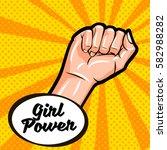 girl power. feminism symbol.... | Shutterstock .eps vector #582988282