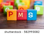 pms word made with colorful...   Shutterstock . vector #582993082