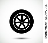 wheel vector icon  vector best... | Shutterstock .eps vector #582997216