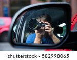 private detective sitting in... | Shutterstock . vector #582998065