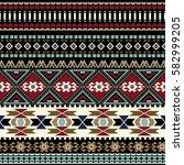 geometric ornament for weaving  ... | Shutterstock .eps vector #582999205