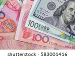 close up of foreign currency... | Shutterstock . vector #583001416