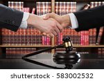gavel on table with judge and... | Shutterstock . vector #583002532