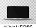 realistic modern laptop... | Shutterstock .eps vector #583004065