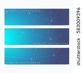 modern set of vector banners.... | Shutterstock .eps vector #583009396