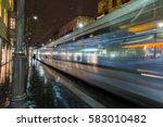 jerusalem light rail tram train ... | Shutterstock . vector #583010482