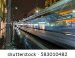 jerusalem light rail tram train ...   Shutterstock . vector #583010482