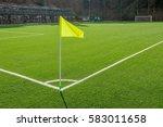 corner in the football field...   Shutterstock . vector #583011658