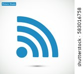 podcast icon  vector best flat... | Shutterstock .eps vector #583016758