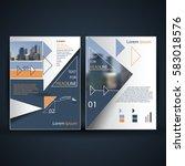 elegant brochure   flyer  ... | Shutterstock .eps vector #583018576