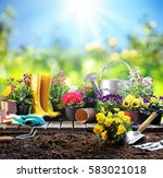 Gardening Equipment For Gardener Flowerpots - Fine Art prints