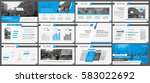 blue elements for infographics... | Shutterstock .eps vector #583022692