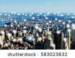 internet of things concept in... | Shutterstock . vector #583023832