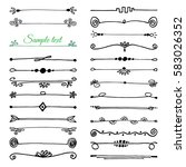 set of handdrawn borders made... | Shutterstock .eps vector #583026352