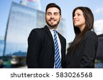 outdoor portrait of smiling... | Shutterstock . vector #583026568