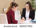 employee or client and... | Shutterstock . vector #583027582
