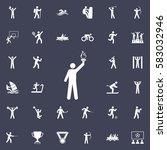 torchbearer icon. sport icons... | Shutterstock .eps vector #583032946