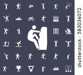 rock climber icon illustration. ... | Shutterstock .eps vector #583036072