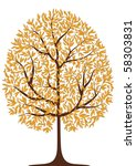 autumn tree | Shutterstock .eps vector #58303831