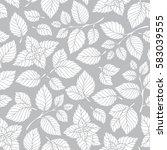mint leaf pattern. peppermint... | Shutterstock .eps vector #583039555